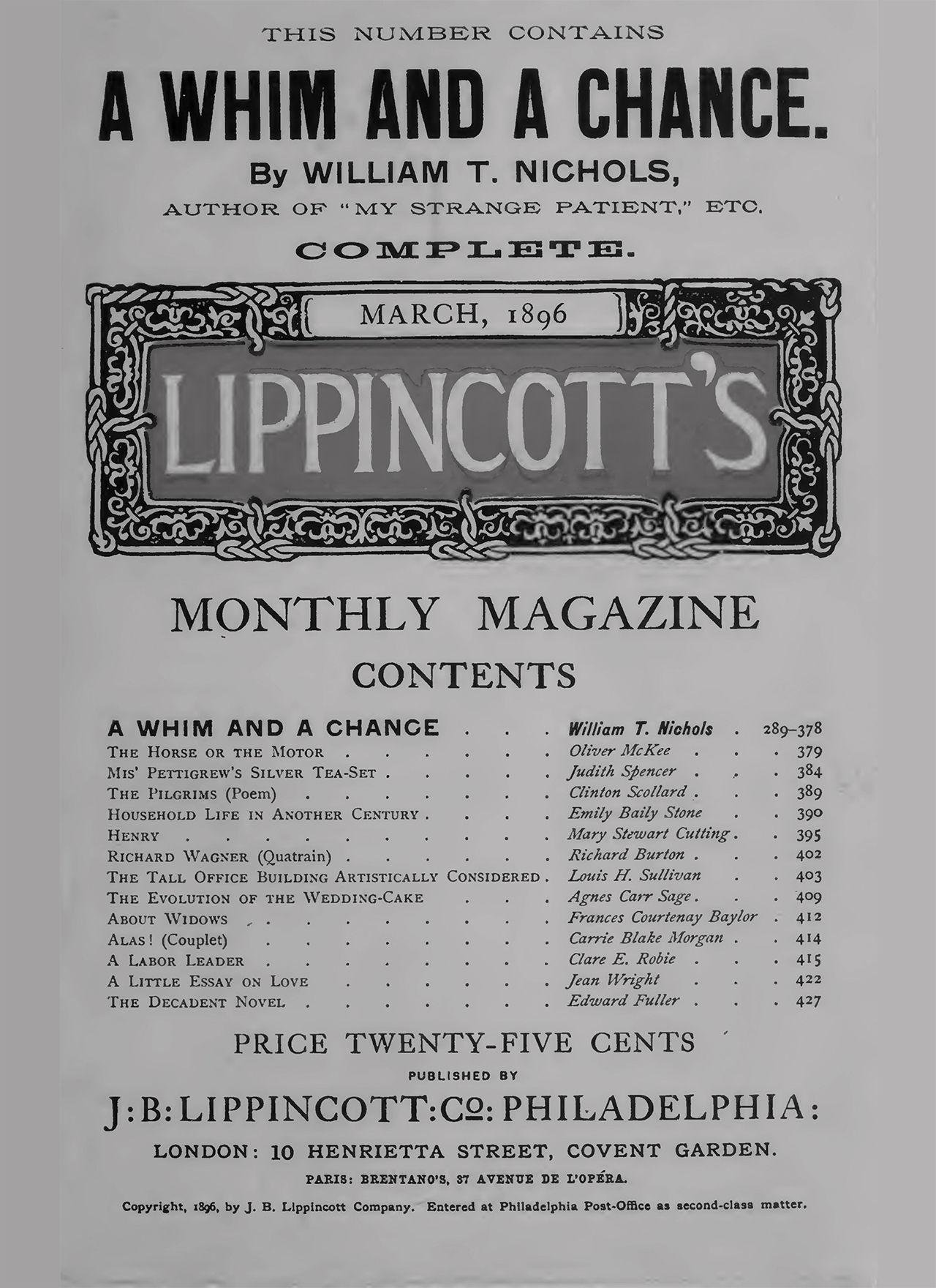 Lippincott's Louis H Sullivan Stream 02 PCA-STREAM