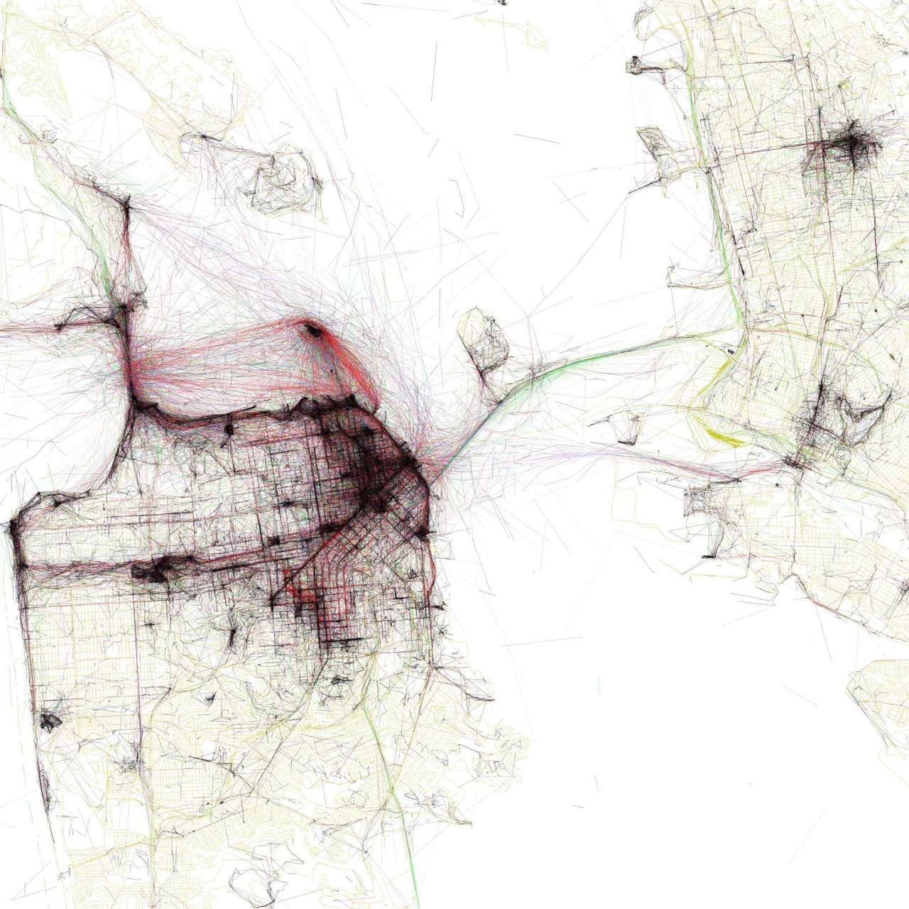 The Geotagger's World Atlas, Eric Fischer, San Francisco