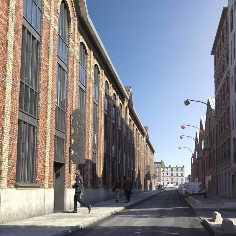 pré saint gervais rehabilitation industrial building innovative workplace incubator co-working grand paris