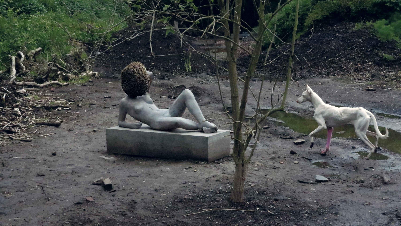 lying down sculpture dog   Pierre Huyghe Stream 03  PCA-Stream