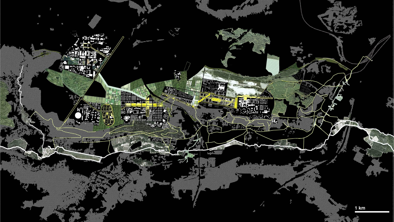 Saclay Parks Map  Michel Desvigne Stream 03  PCA-Stream