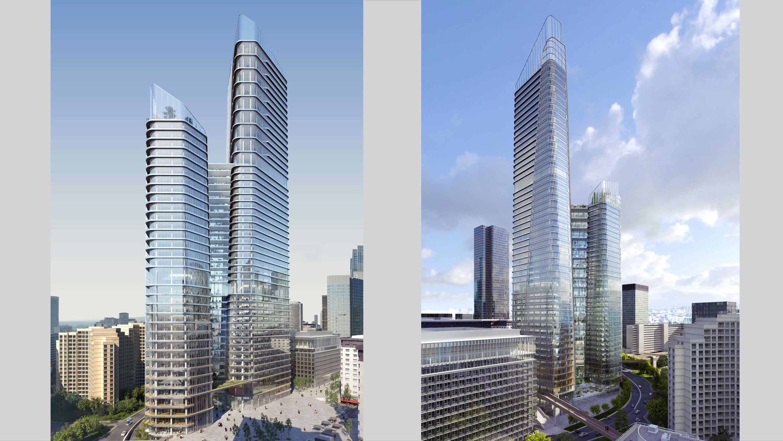 The Link PCA-STREAM tour La Défense skyline skyscrapper immeuble de bureaux plateforme végétalisé open space