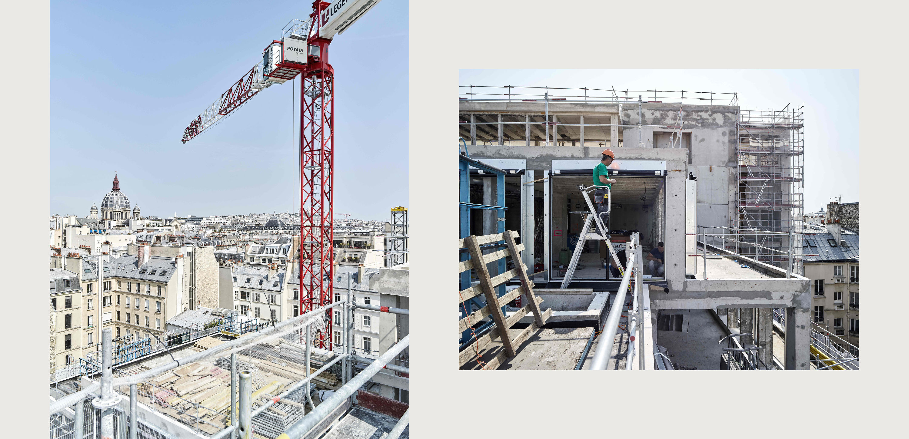 PCA STREAM penthievre chantier paris