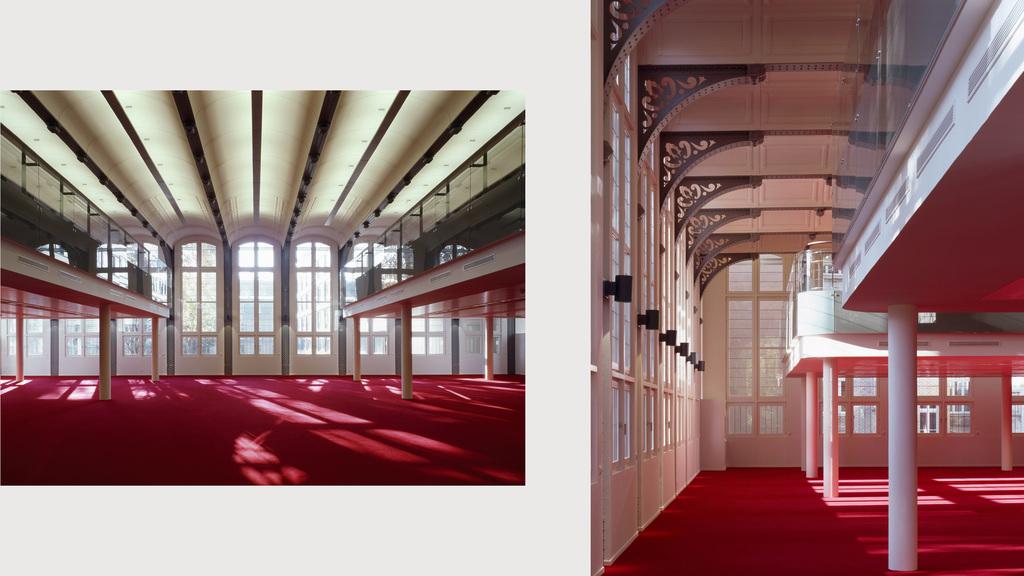 103 Grenelle PCA-STREAM restructuration bureaux cour intérieure vue de nuit
